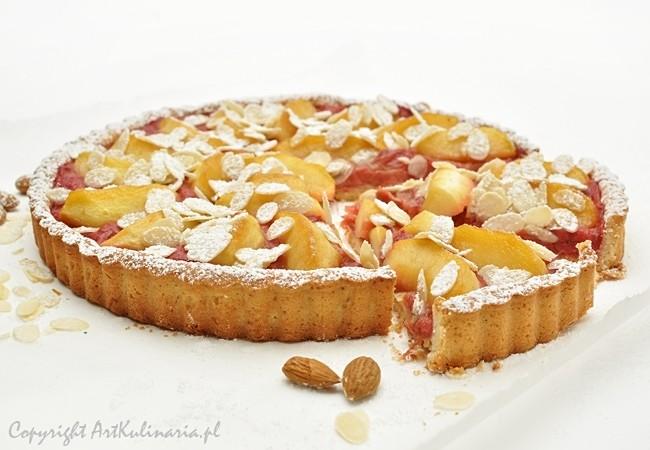 Tarta z rabarbarem i karmelizowanymi jabłkami