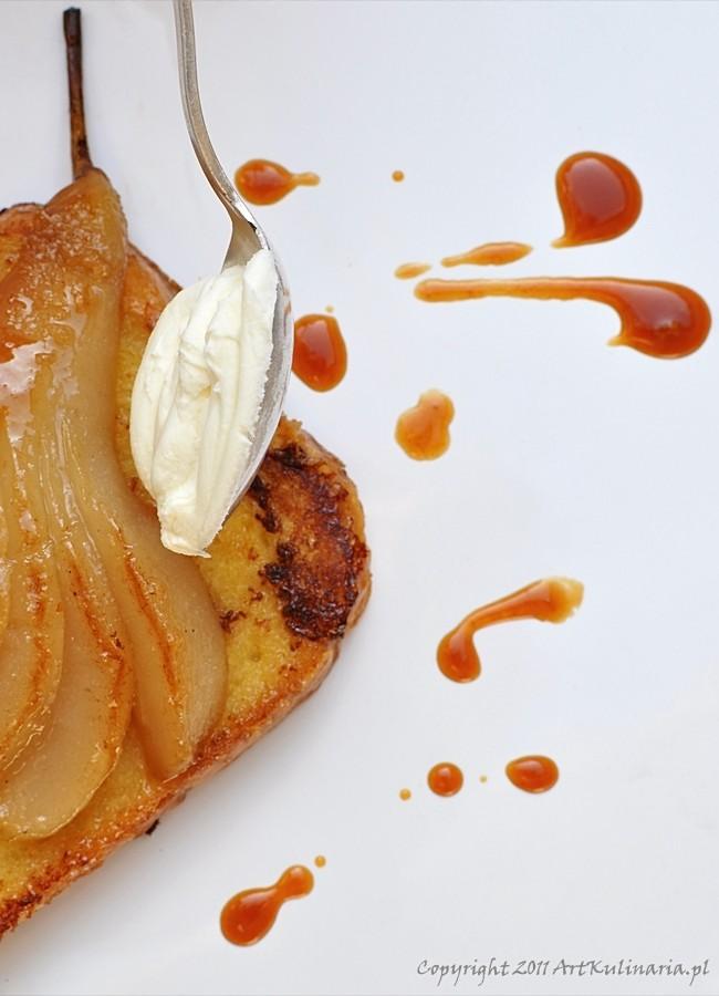Smażone tosty. Gruszka, wanilia i karmel / ArtKulinaria